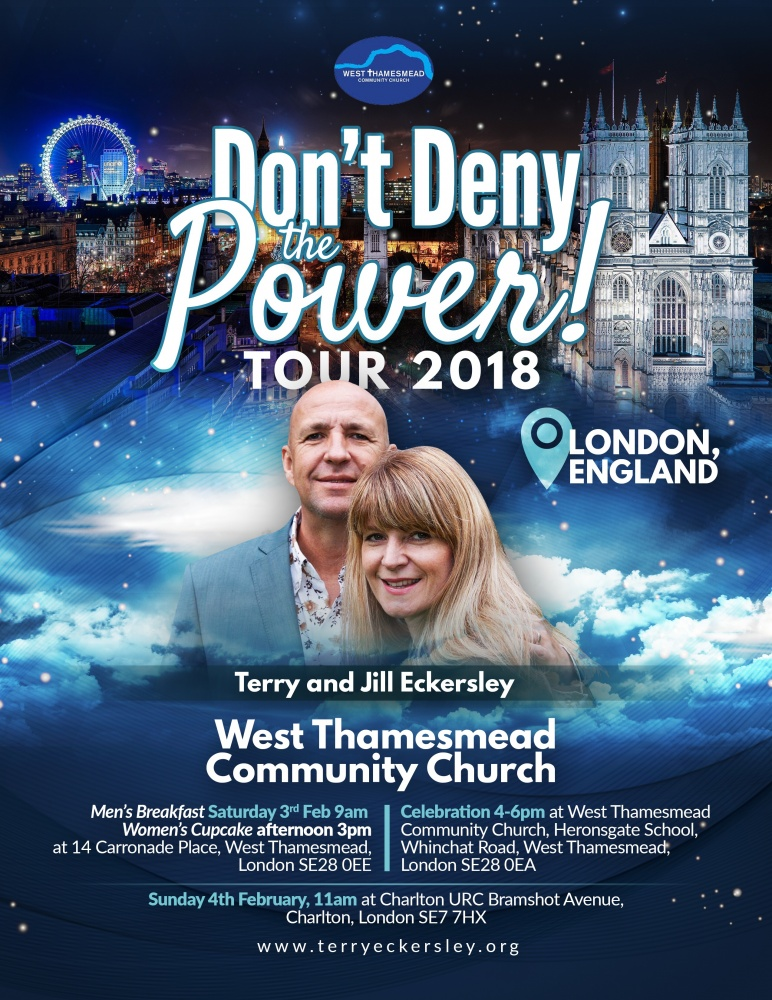 Don't Deny The Power ! Tour London (Men's breakfast) @ West Thamesmead Community Church