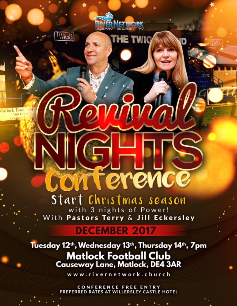 Revival Nights Conference @ Matlock Football Club, Causeway Lane, Matlock DE4 3AR