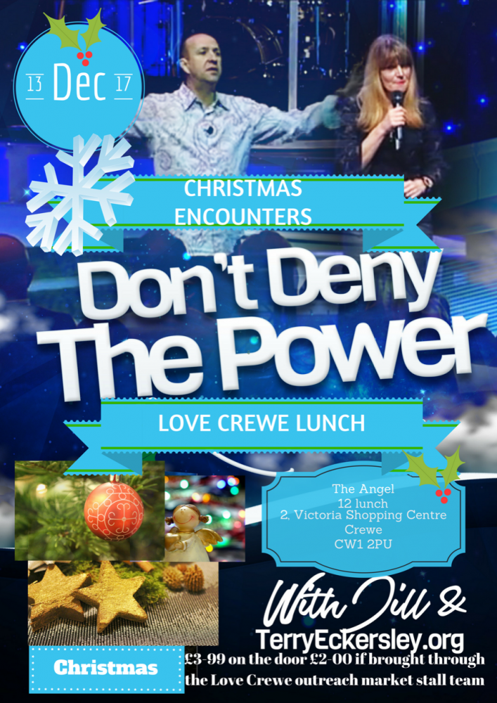 Christmas Encounters Don't Deny The Power [Love Crewe Lunch] @ 2 Victoria Shopping Centre Crewe CW1 2PU